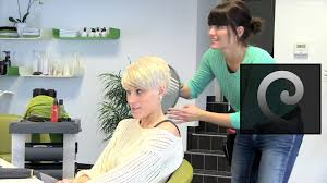 i was feminized by a short hair blonde short pixie haircut makeover undercut sidecut extreme