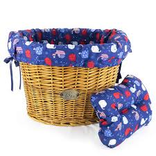 red white and blue whales basket liner beach u0026 dog co beach
