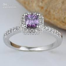 amethyst stone rings images Lady square purple amethyst stone band right finger silver ring jpg