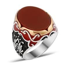 ring design men exclusive design silver men ring with aqeeq alif boutique