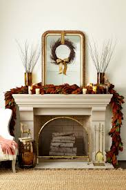 colors for thanksgiving decorating a mantel for fall and christmas how to decorate