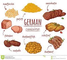 la cuisine allemande cuisine allemande collection de nourriture délicieuse éléments d
