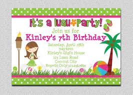 Invitation Card 7th Birthday Boy 20 Luau Birthday Invitations Designs Birthday Party Invitations