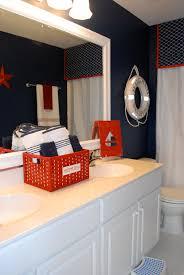 Small Red Bathroom Ideas Colors Boys Bathroom With A Nautical Theme Blue Nautical Bathrooms