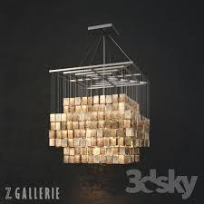 Z Gallerie Chandeliers 3d Models Ceiling Light Chandelier Capiz Chandelier From Z Gallerie