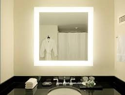 Lit Bathroom Mirror Bathroom Imposing Lighted Bathroom Mirrors Wall Pertaining To