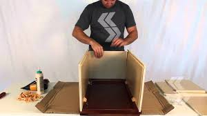 titusville rta wall cabinet assembly w blocks youtube