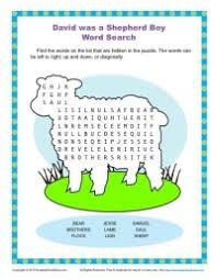 david was a shepherd boy word search children u0027s bible activities