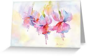 greeting card fuchsia watercolor greeting cards by pat yager redbubble