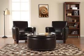 furniture round tufted ottoman with storage round storage