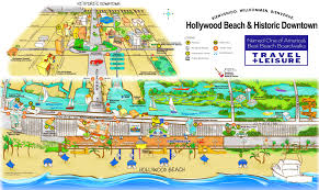 Florida Attractions Map Hollywood Beach And Historic Downtown Map