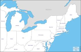 northeast map of us map of northeast us coast inside east america