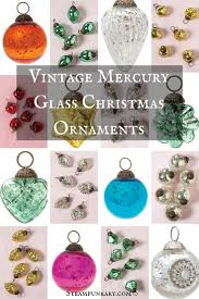 vintage mercury glass ornaments glass