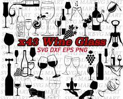 wine bottle svg wine svg wine glass wine bottle decal vinyl stencil