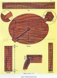 Side Table Plans Round Side Table Plans U2022 Woodarchivist