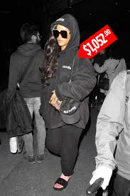 rihanna u0027s black hoodie costs more than 1 000