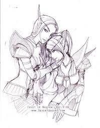 wow blood elf females sketch by merit on deviantart