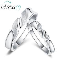 silver wedding ring sets twisted promise rings set for women and men sterling