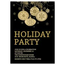 simple black themed with holiday party invitations templates and