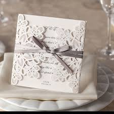lace wedding invitations ribbons lace wedding invitation laser cut wedding invitations