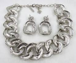 crystal chain link necklace images Oscar de la renta rhinestone chain necklace set garden party jpg