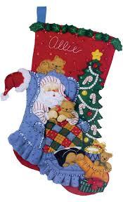 bucilla christmas santa s catnap bucilla christmas kit