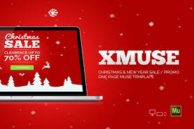 free muse template xmuse christmas sale promo muse template free download