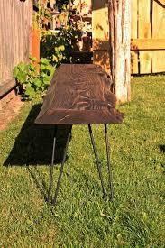 fire blackened cedar bench w hairpin legs orcas workshop