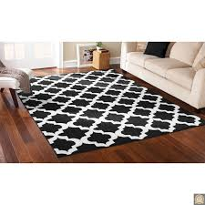 8x10 area rug black white trellis lattice carpet contemporary