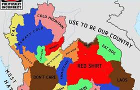 map of thailand or offensive politically incorrect map of thailand draws