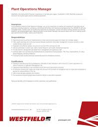 cover letter operations manager westfield wheatheart linkedin