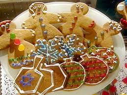 gingerbread cookie projects white snowflakes