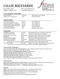 Resume Sample Nyu by Voice Over Resume Free Resume Example And Writing Download