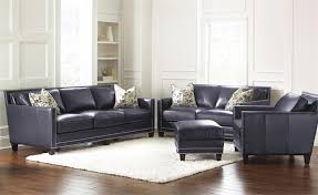 Blue Leather Sofa by Hendrix Navy Blue Leather Sofa By Steve Silver