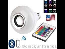 Bluetooth Light Bulb Speaker Led Bluetooth Speaker Bulb Wireless 12w Power Music Playing Light