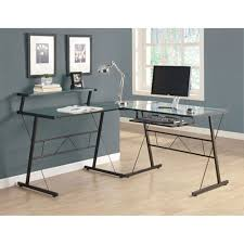 Office Depot Glass Computer Desk Modern Glass Computer Desk Regarding Brenton Studio Limble Black
