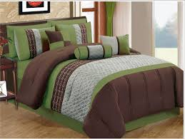 Olive Bedding Sets 7 Pieces Coffee Olive Green Cal King Size Comforter