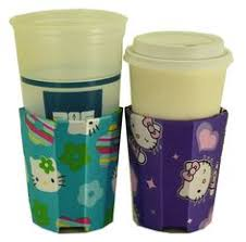 huggie drinks beverage insulator cup size for cold hot drinks faux fur zebra