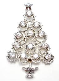 christmas tree sterling silver crystal pendant brooch u2013 the