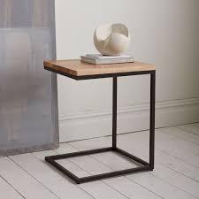 X Base Side Table Box Frame C Base Side Table Rustic Mango Antique Bronze Living