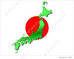 Japan Flag Image Map Of Japan Stock Illustration I1294641 At Featurepics