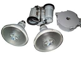 flood light with outlet red dot twin head flood light fixture with ecosmart 2 pack led par38