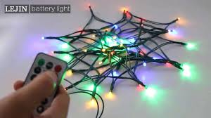 remote control christmas lights most popular blue battery operated led string lights with remote