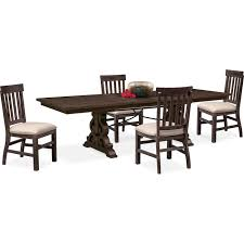 Dining Room Side Chairs Charthouse Rectangular Dining Table And 4 Side Chairs Charcoal