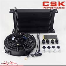 oil cooler fan kit 25 row an8 engine oil cooler 7 electric fan kit universal fit on