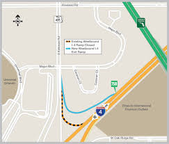 Orlando Traffic Map by New Westbound I 4 Exit Ramp To Open To Northbound Kirkman Road I