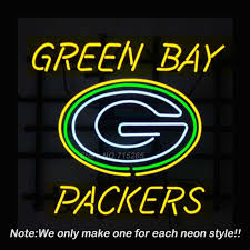 green bay packers lights green bay neon sign packers neon bulbs recreation room glass