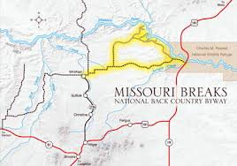 missouri breaks map missouri breaks back country byway central montana
