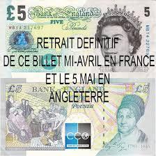 bureau de change livre sterling retrait de l ancien billet de 5 livres à partir du 15 avril cco