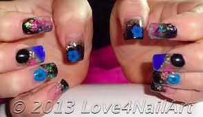 love4nailart encapsulated colorful pop acrylic nails
